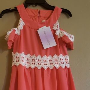 Other - Girls cold shoulder dress size 8 new with tags